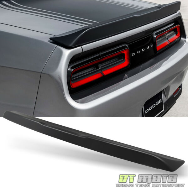 2015-2018 Dodge Challenger Fit 08-14 Rear Trunk ABS Spoiler Primered Matte Black
