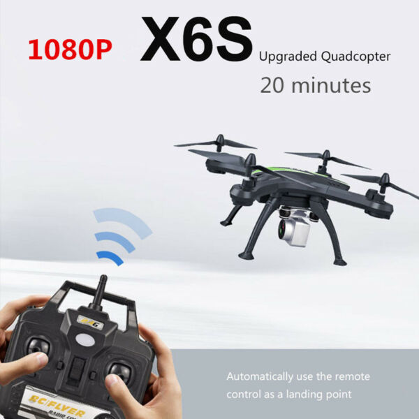 X6S drone WIFI FPV  flight 20 minutes 1080P HD quadcopter air pressure constant
