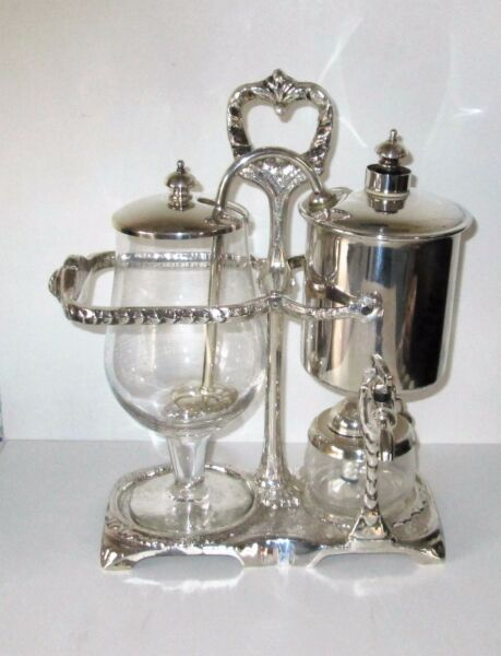 PERCO RETRO 600 ML BALANCE COFFEE MAKER BELGIUM SILVER PLATE VGC RARE