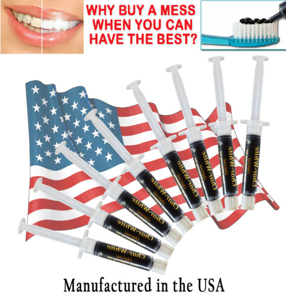 Carbon amp; Coco Activated Charcoal Teeth Whitening Powder Toothpaste Mint Tooth $12.99