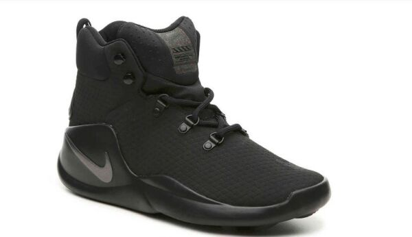 Nike Sizano High Top Black Black Silver Basketball Athletic Shoes Kicks 8.5 Mens