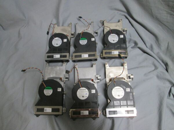 LOT OF 6 DELL OPTIPLEX 790 7010 HEAT SINK WITH FAN 3 0637NC and 3 0FVMX3