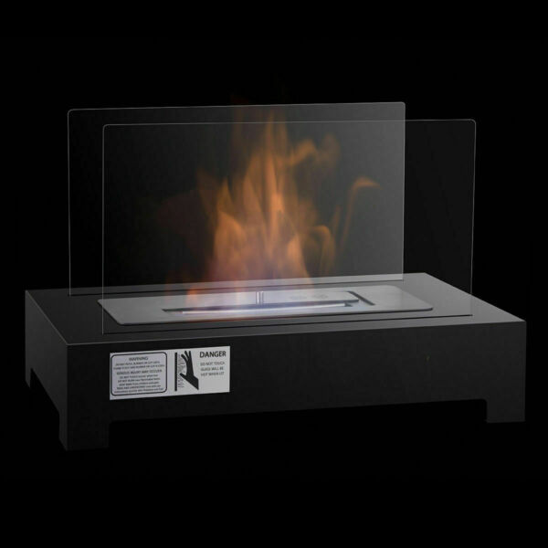 Tabletop Ventless Bio Ethanol Fireplace stainless steel Pedestal Portable