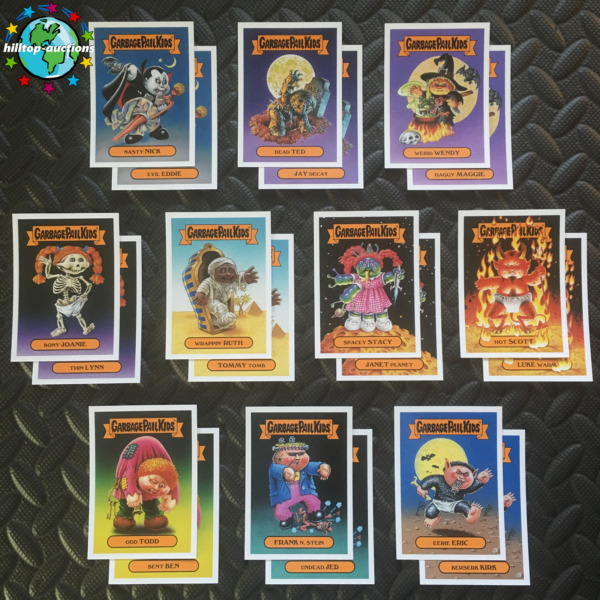 GARBAGE PAIL KIDS OH THE HORROR-IBLE CLASSIC MONSTER 20-CARD SET 2018 +WRAPPER!