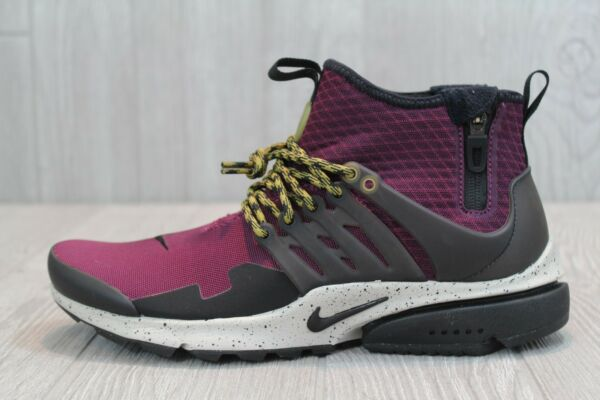 33 New Nike Air Presto Mid Utility Men's Shoes Bordeaux SZ 8 10 13 859524 600
