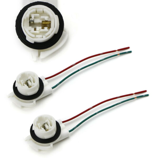 3156 2-Wire Harness Pre-Wired Sockets For Repair Replacement Install LED Bulbs