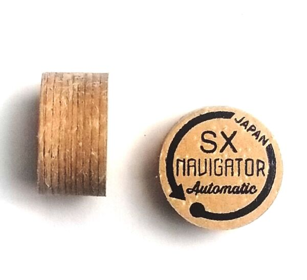 Navigator AUTOMATIC SX super soft 10 Layer Pigskin Leather Pool Cue Tip - Brown