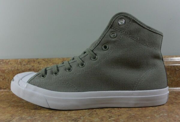 Converse Jack Purcell Mid Casual Canvas Sneakers Dark Stucco/Light Olive 159669C