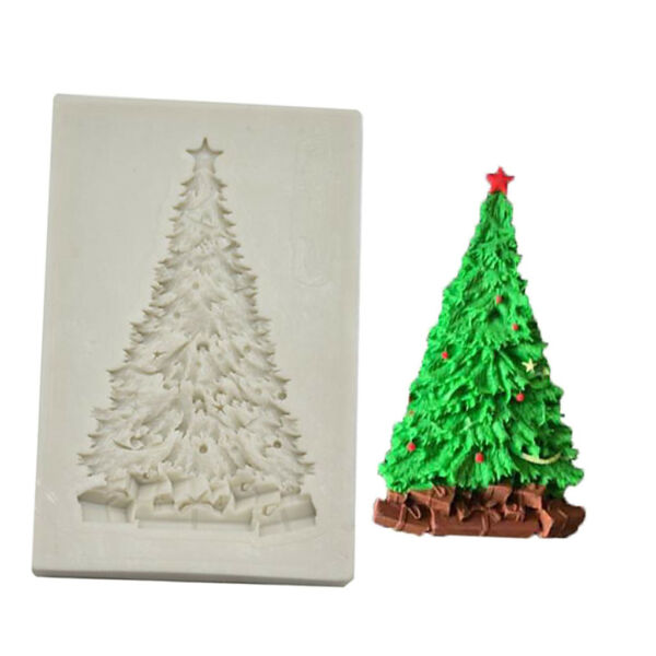 Christmas Tree Silicone Mold Fondant Moulds 3D Chocolate Cake Making Baking