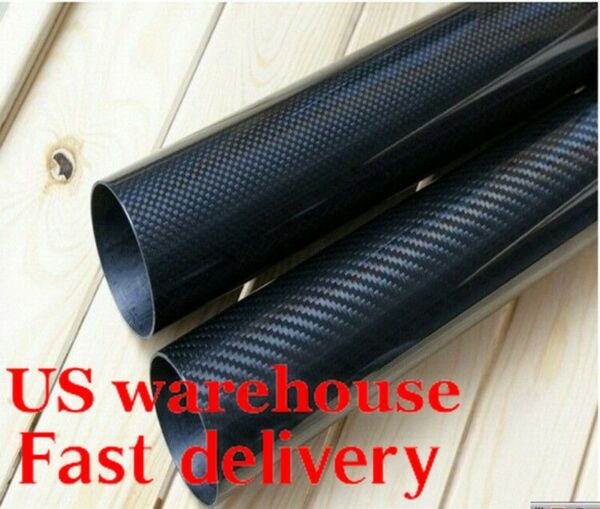 OD 50MM x 46mm 47mm 48mm 1000mm 3K Roll Wrapped 100% Carbon Fiber Tubes pipe US $79.88