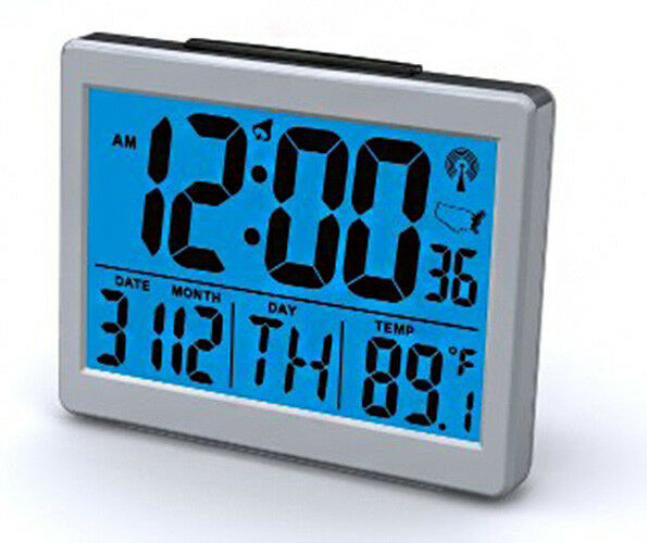 Exclusive Atomic Desk Digital Month Day Date Temp Snooze Alarm Clock