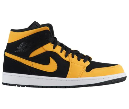 Nike Air Jordan Retro 1 Mid Reverse New Love Black Yellow 554724-071 all size