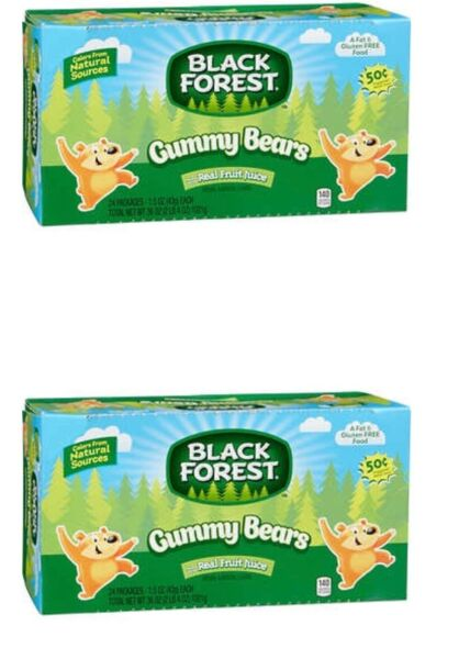 Black Forest Gummy Bears Variety Pack 1.5 oz  Two Boxes = 48 ct
