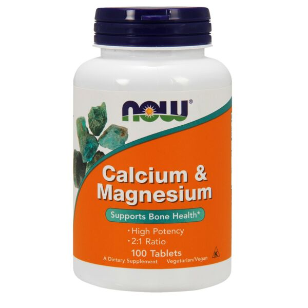 NOW Foods Calcium amp; Magnesium 500 250 mg 100 Tablets $9.59