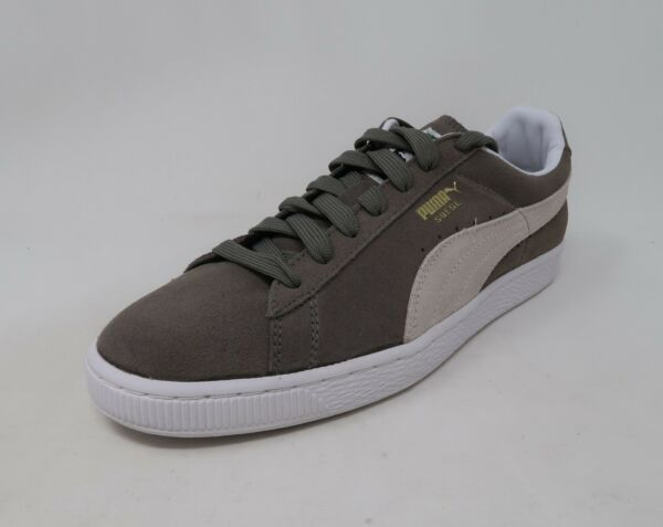 Puma Suede Classic Men Shoes Grey/White Sneakers  #2685