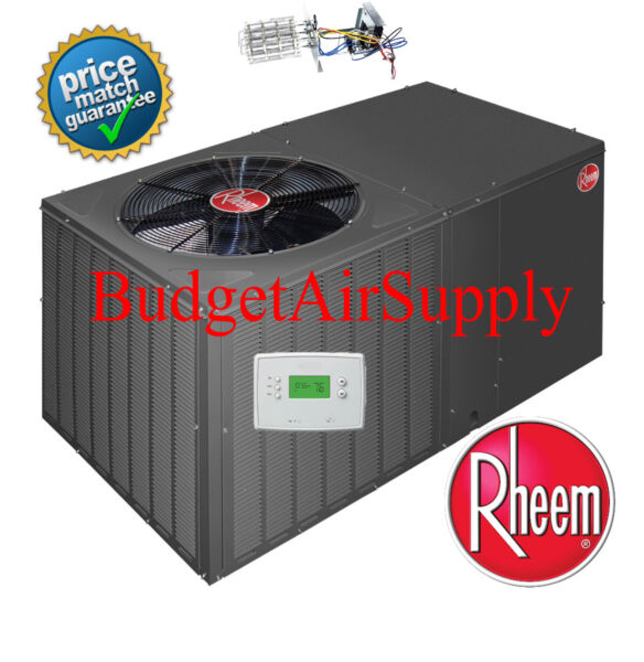 Rheem 4 Ton 14 Seer Heat Pump Package Unit RQPMA049JK000 w tstat