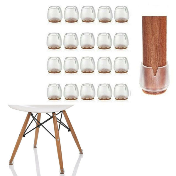 Silicone Cap Cover Floor Protector for Chair Table Stools Furniture Legs 32 Pack