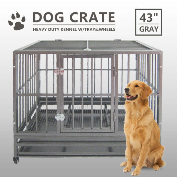 Heavy Duty Wire Metal Cage Crate Pet Dog Exercise Fence Playpen Kennel Outdoor