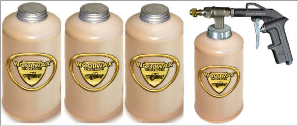 WOOLWAX® 4 Quarts Undercoating Kit with PRO GUN & Wand.Thicker than Film Fluid