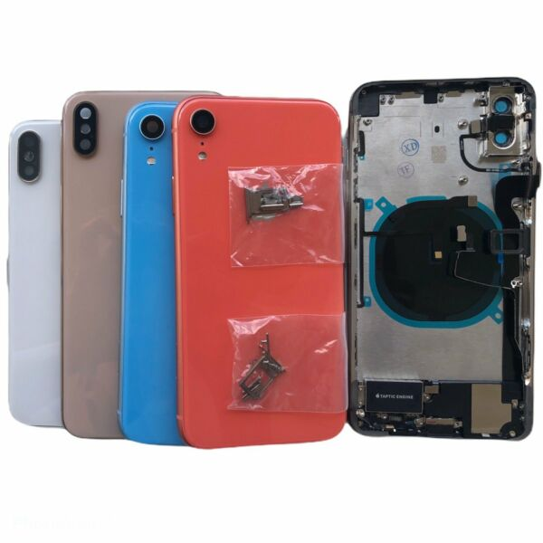 NEW Back Glass Housing Cover Frame Assembly For iPhone 8 Plus X XS Max XR WLOGO