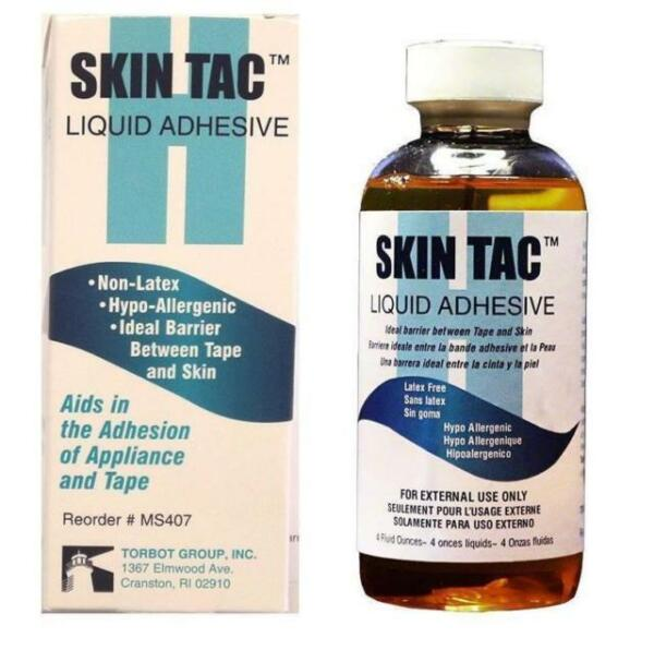 NEW IN BOX TORBOT Skin Tac Liquid Adhesive #MS407 - Non-Latex - 4 Fluid Ounces