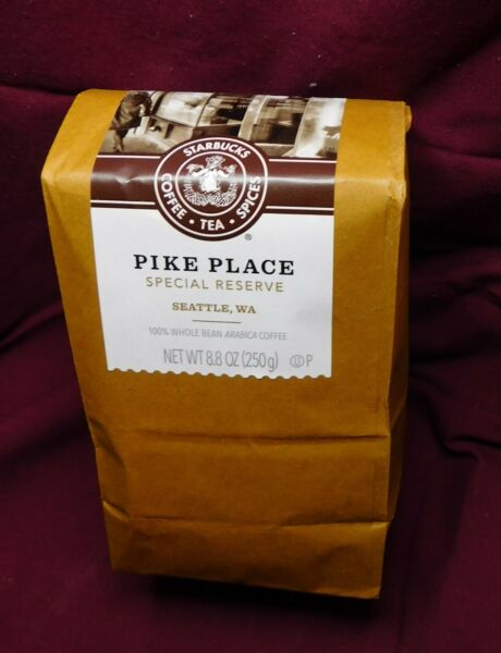 Starbucks Coffee 8.8oz Whole Bean Reserve Only1st Store Pike Place Exclusive