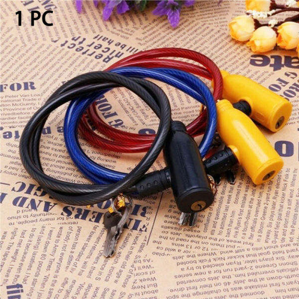 Bike Steel Chain Security Cable Anti Theft Scooter Safety Bicycle Lock Cycling