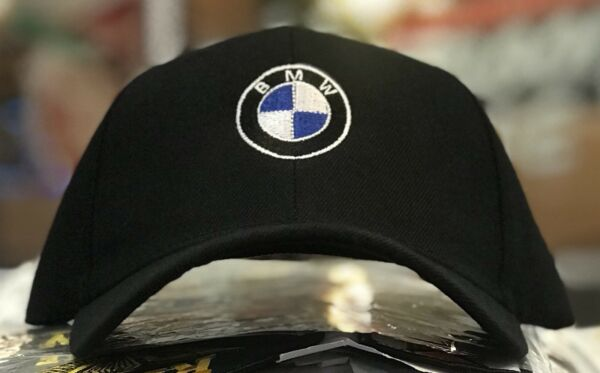 BMW Men's Baseball Cap Roundel Logo Hat 6 Panel  BLACK M Power MSport Motorsport