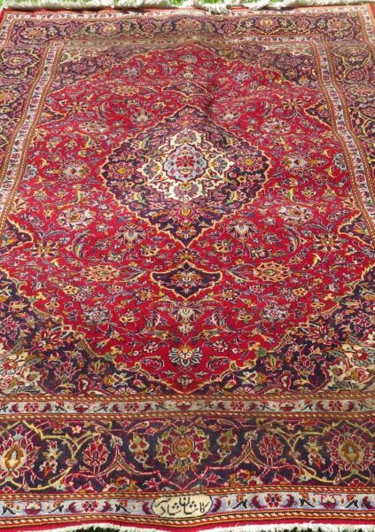 Persian Style Rug One of a Kind Multi-Color  Handmade  Size 85