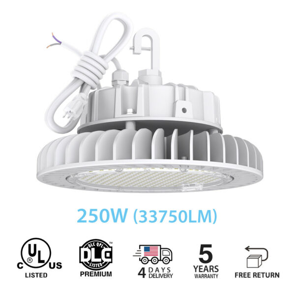 250W Led High Bay Light Lamp Lighting Warehouse Fixture Factory Industry UL DLC