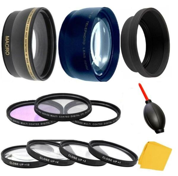 Accessory Lens Filter Kit For Panasonic DMC-FZ70 DMC-FZ72 DC-FZ80 DC-FZ82 FZ85