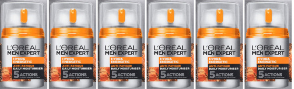 Loreal Men Expert Hydra Energetic Daily Moisturizing Lotion 1.6 Oz (6 Pack)