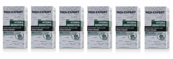 Loreal Men Expert Hydra Sensitive Multi-Protection Hydrating Cream 1.6 oz (6 Pk)