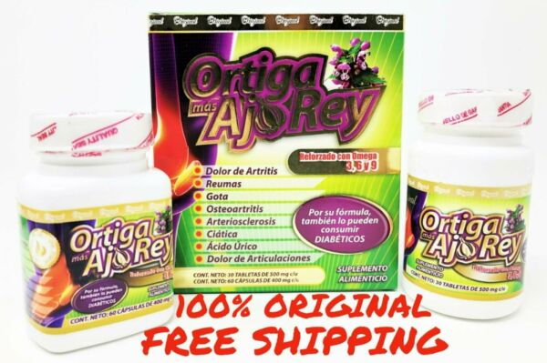 Ortiga Mas AJO REY Omega 369 100% AUTHENTIC 2 Bottles (30 Day) Joint Support