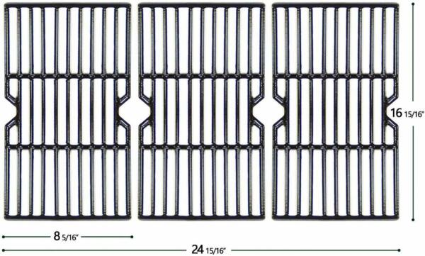 HyG612C Porcelain Coated Cast Iron Grill Grates for Charbroil Kenmore Gas Grill