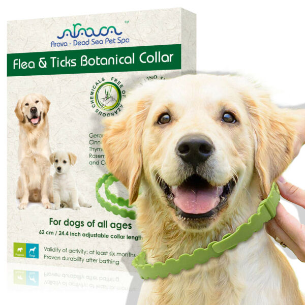 Natural Flea and Tick Control Prevention Collar for Small Large Dogs