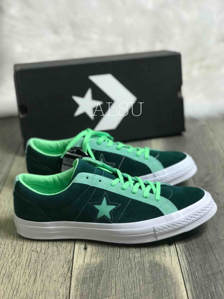 Sneakers Men's Converse One Star Suede Low Top Ponderosa Neptune Green