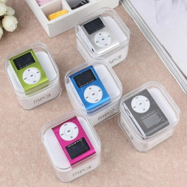 MP3 Player With LCD Screen & FM Radio Small Mini Clip Supports Micro SD 32GB