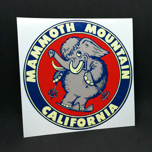 MAMMOTH MOUNTAIN Travel DECAL  Vintage Style Vinyl STICKER California