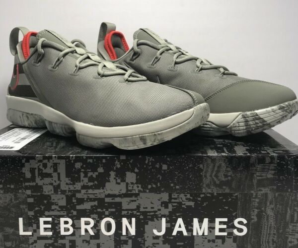 Nike Mens Size 12 Lebron XIV Low Dark Stucco Basketball Athletic Sneakers Shoes