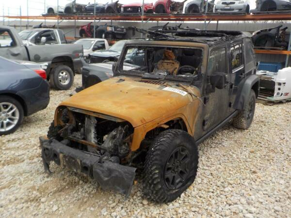 2014 JEEP WRANGLER Front Axle Assembly Dana 30 LHD 3.73 ratio 11-14