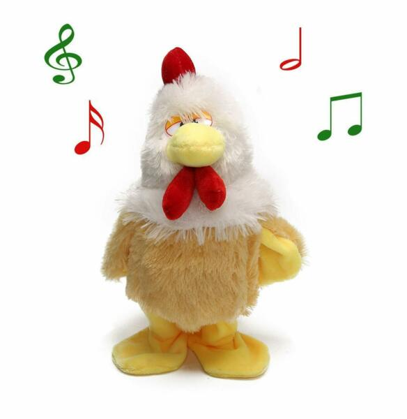 Chicken Plush toy Electric Hen Musical Dancing Chicken Baby Kid Gifts battery
