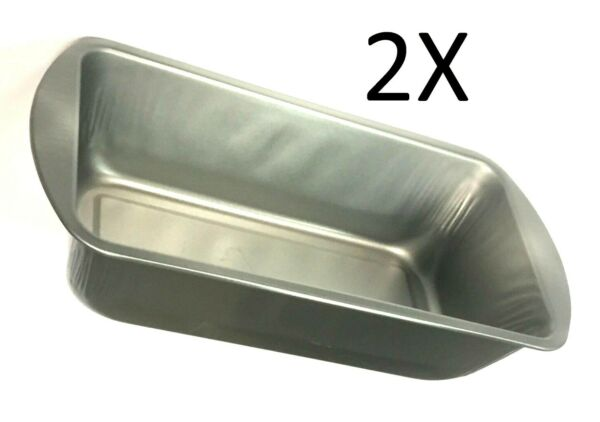 2 X Metal Bakeware Oven Baking Pan Bread & Loaf Meatloaf Cake