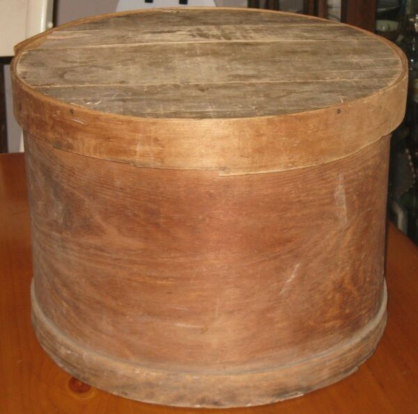 Large Antique Primitive Wood Cheese Cupboard Pantry Box