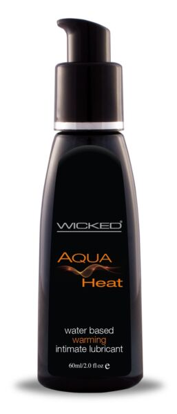 Wicked Aqua Heat Water Based Warming Lubricant 2oz Lube $9.84