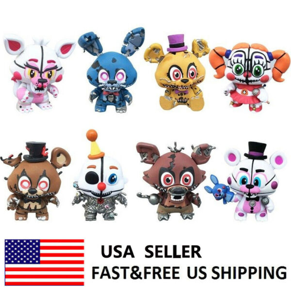 Five Nights At Freddy's Foxy FNAF Action Figure Cake Topper Kids Gift Toys 8 PCS