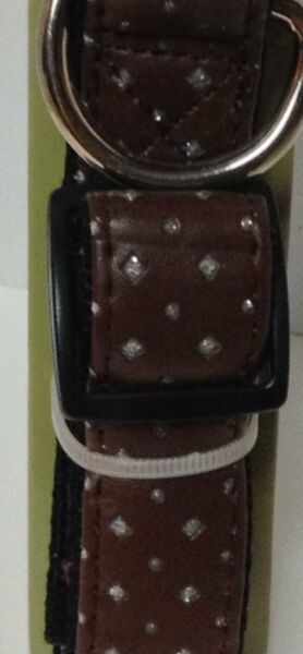 Large Breed Fancy Dog Collar NWT Adjustable Brown With Sparkle Accents $9.99