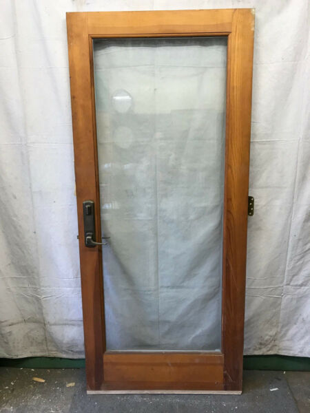 Full Glass Salvaged Exterior Wood Door Insulated Glass Architectural 33 3 4x77 $275.00