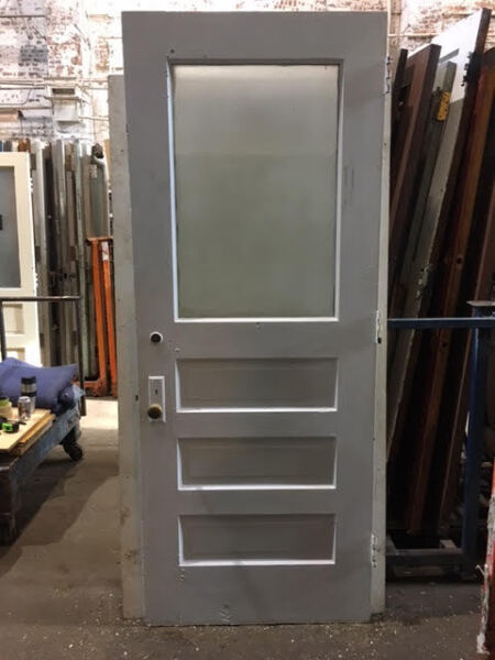 Exterior Wood Door Single Pane of Glass Architectural Salvage 35 3 8quot; $275.00