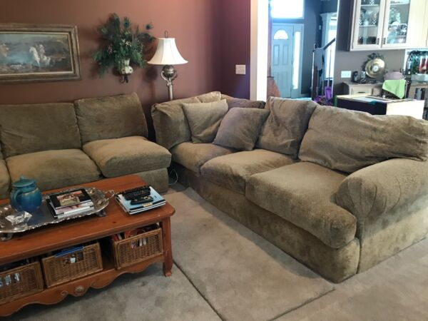 Beautiful Large Sofa sectional with Chaise Down Filled 3 Pieces $1500.00